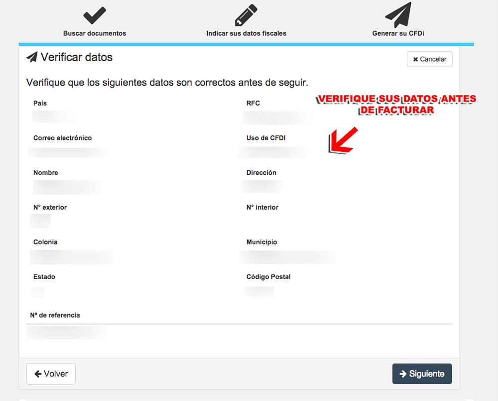 Air France Paso 2  Verificación de datos