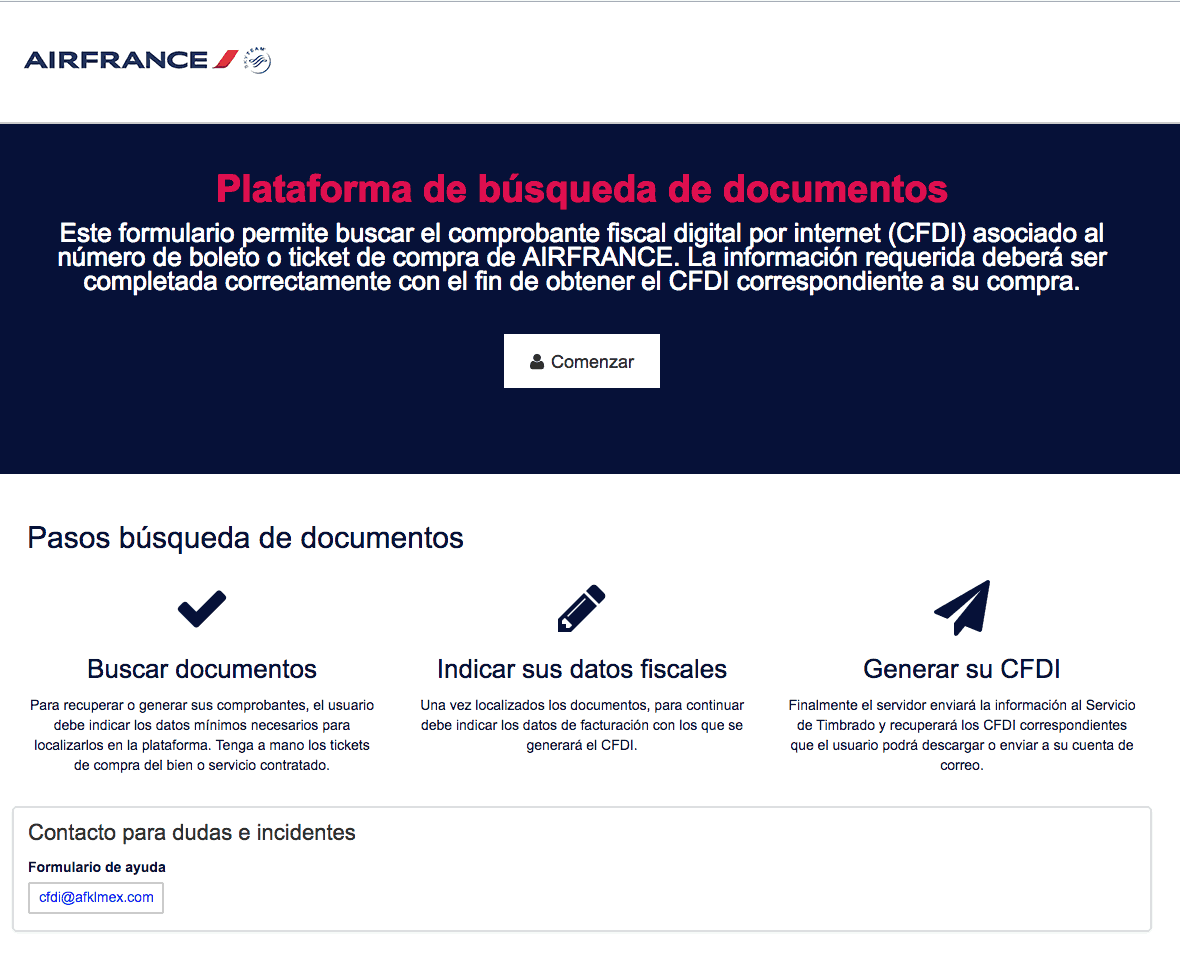 Air France  Paso 1  Captura de datos
