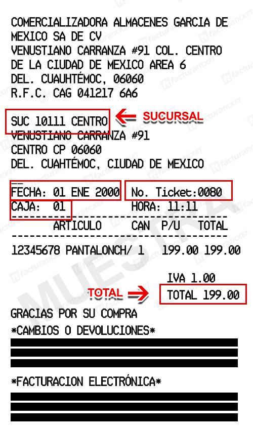 Almacenes García Paso 1 Captura de datos de compra