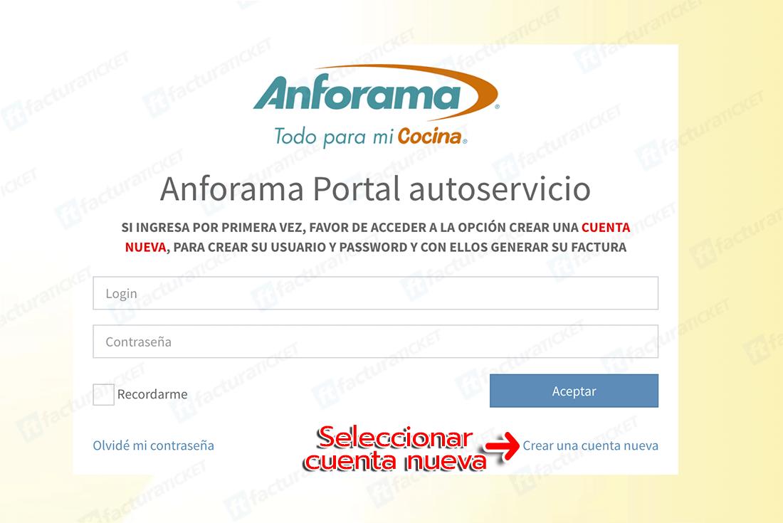 Anforama Paso 1 Registrar Cuenta Nueva