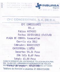 Autopista Tepic – Mazatlán Paso 1  Captura de datos de compra
