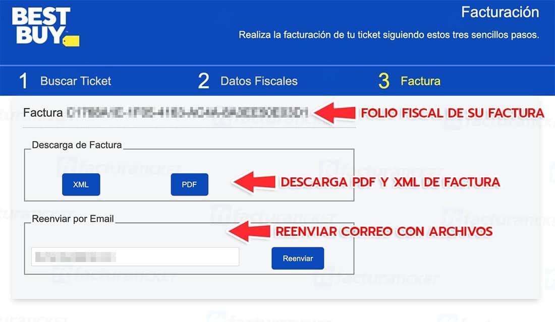Best Buy Paso 3  Descarga y envío de factura
