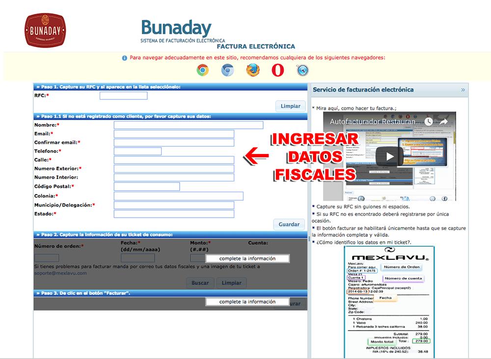 Bunaday Paso 1  Captura de datos de compra