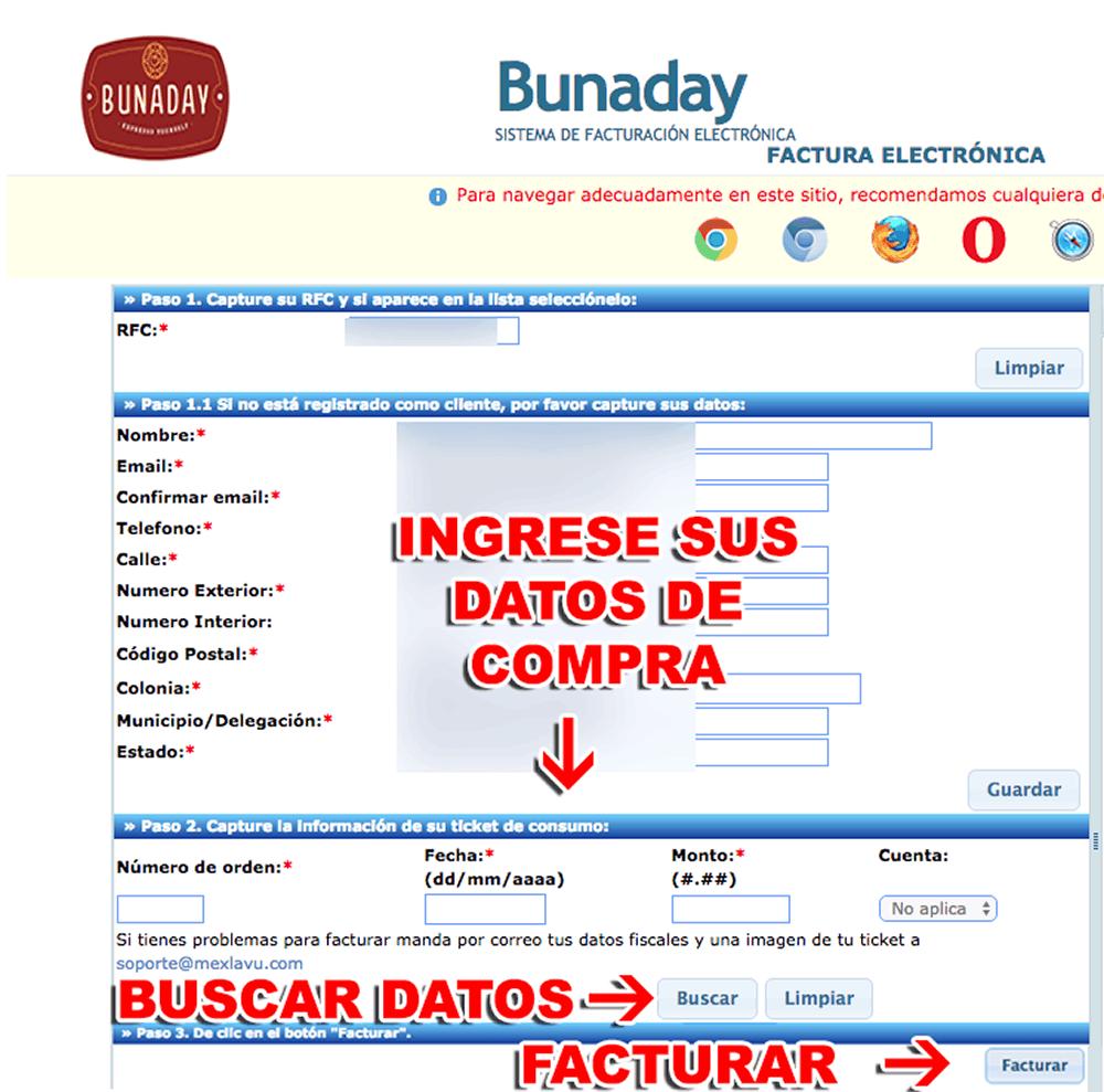 Bunaday Paso 2  Captura de datos de compra