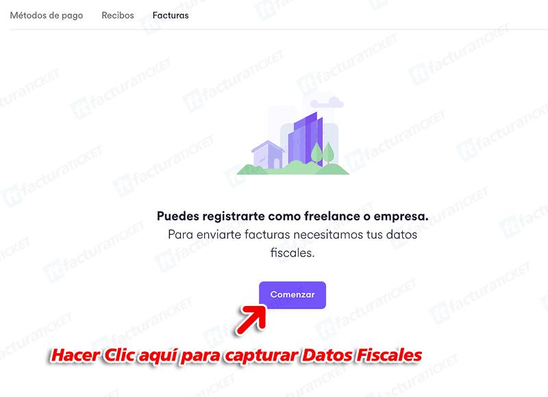 """Cabify Paso 1  Ingresa a La Sección """"Facturación"""""""