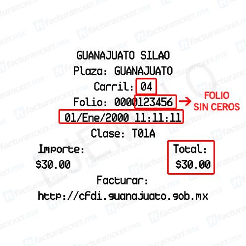 Caseta Guanajuato Silao Paso 1 Captura de datos de compra