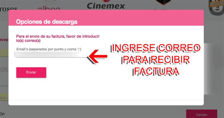 Cinemex Paso 3  Visualice y descargue su factura