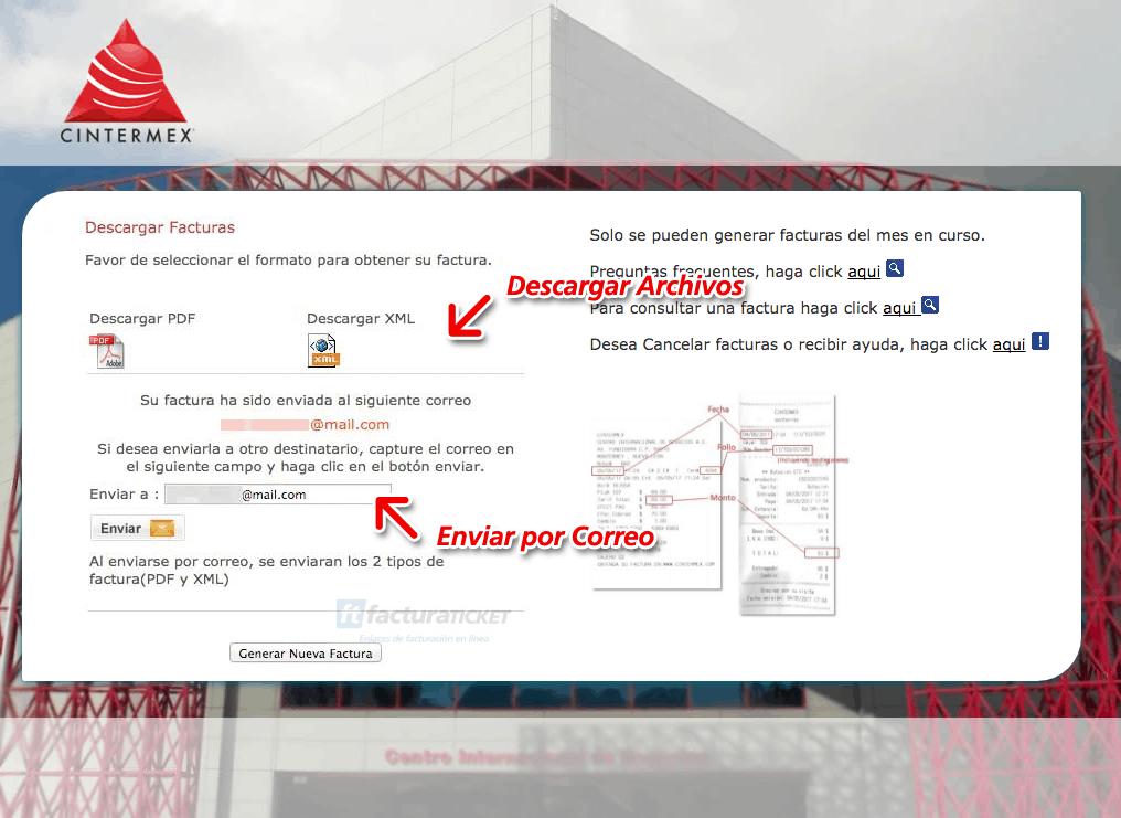 Estacionamiento Cintermex Monterrey Paso 3  Verificación y facturación de datos