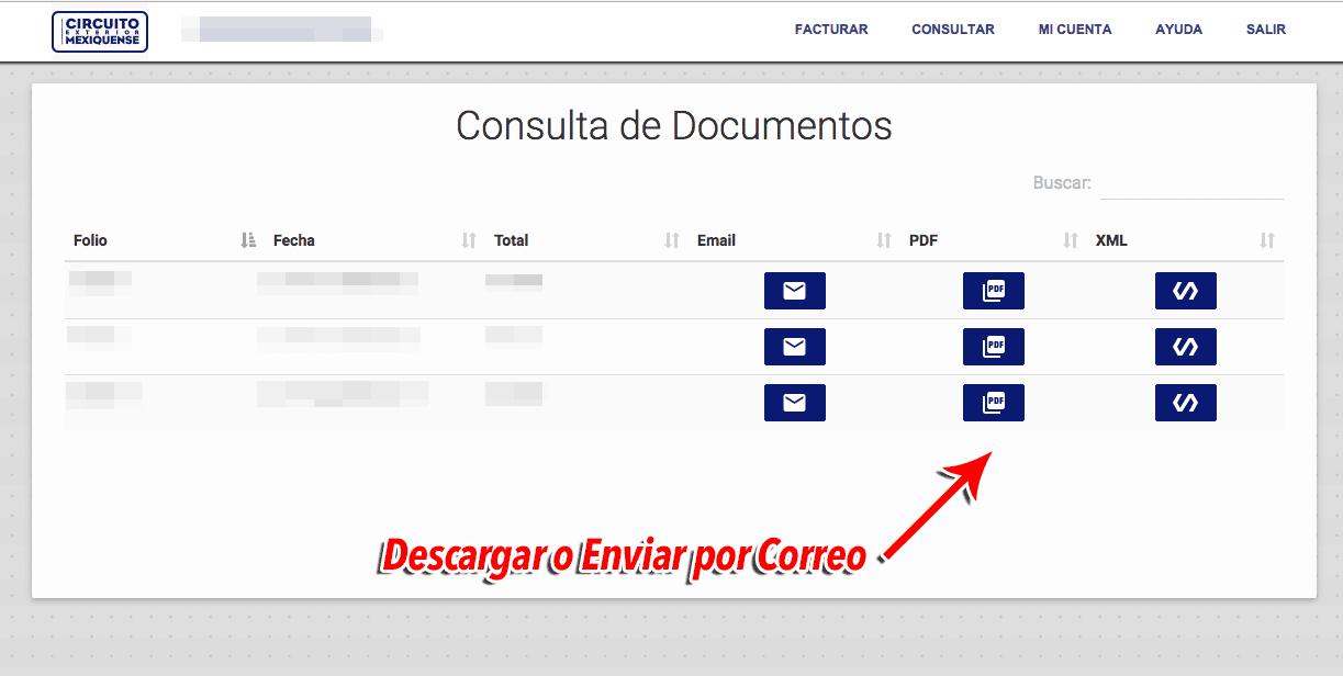Circuito Mexiquense Paso 3  Verificación de datos y facturación