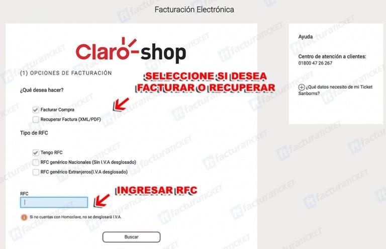Claro Shop Paso 2 Capture sus Datos Fiscales