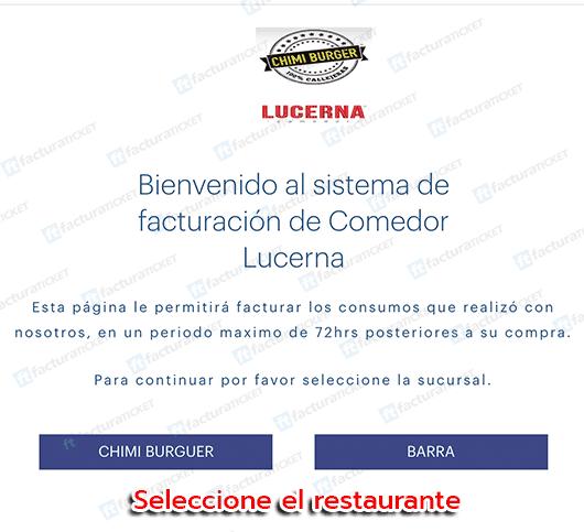 Comedor Lucerna Paso 1 Capturar datos del ticket