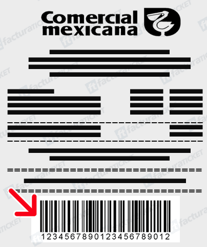 Comercial Mexicana Paso 2  Escriba el Folio del Ticket