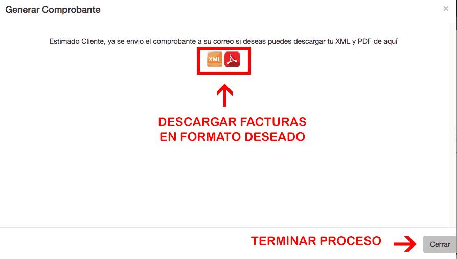Cúcara Mácara Paso 3  Descarga de factura
