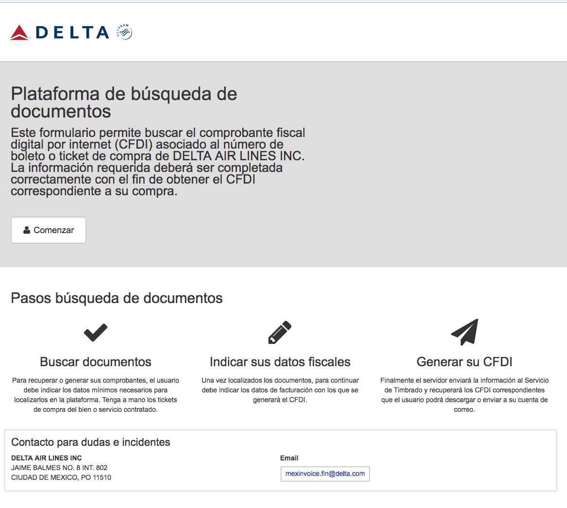 DELTA Airlines  Paso 1  Captura de datos