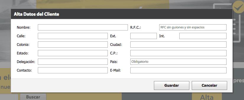 Deprisa Paso 1  Registro en el sistema