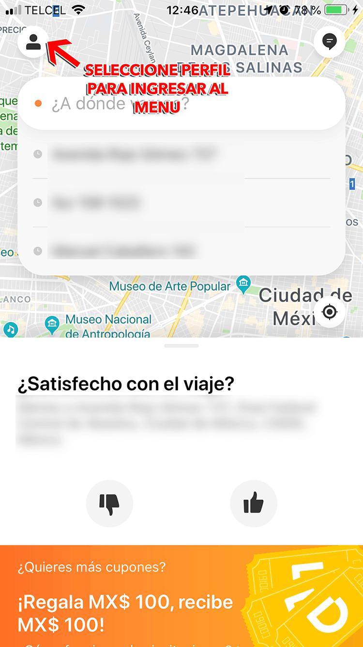 """DIDI Paso 1  Ingresa a La Sección """"Mis Pedidos"""""""