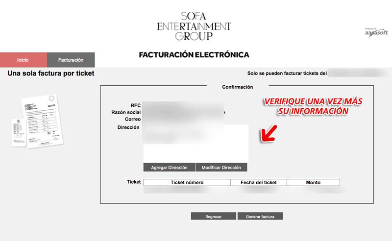 Don Quintín Facturación Paso 3  Confirmación de factura