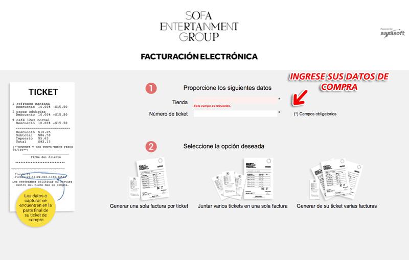 Don Quintín Facturación Paso 1  Captura de datos de compra