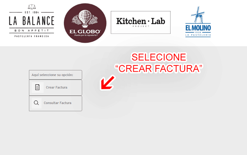 El Globo Paso 1  Selección de proceso