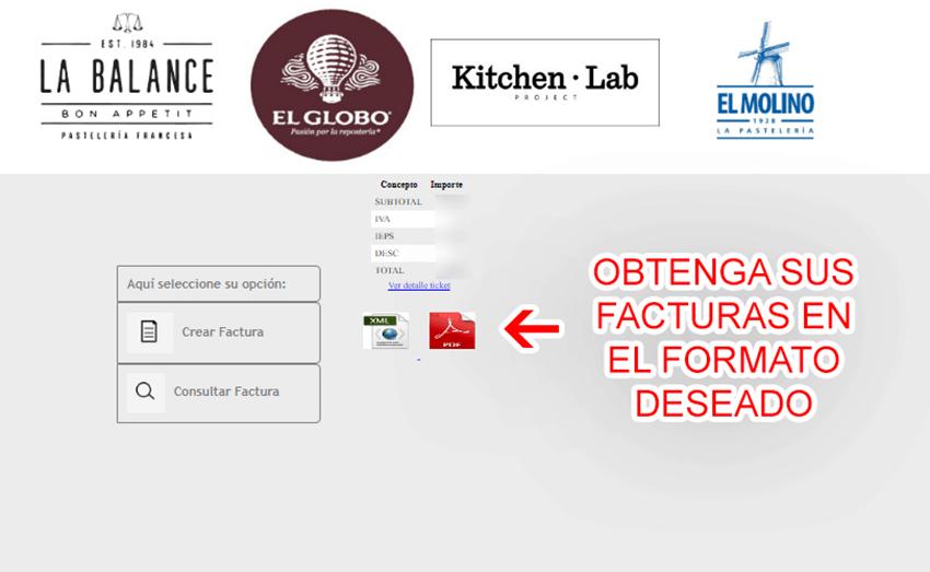 El Globo Paso 3  Confirmación de factura