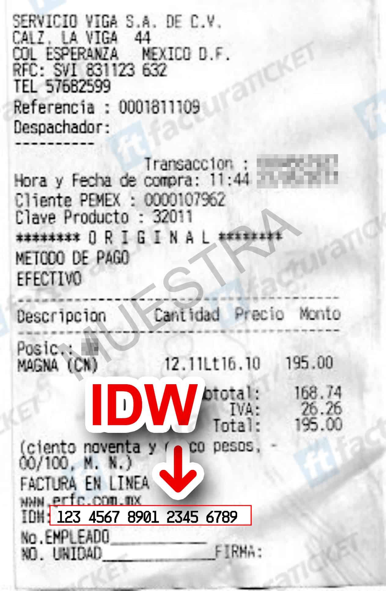 eRFC (Gasolineras) Paso 2  Capture Datos del Ticket