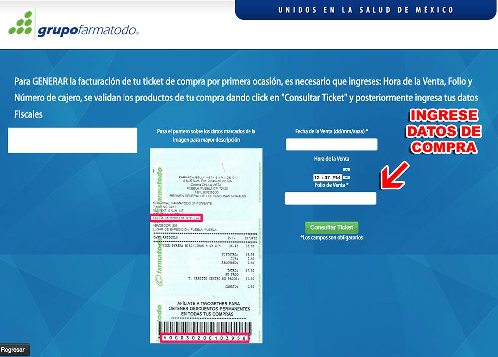 Farmatodo Paso 1  Captura de datos de compra