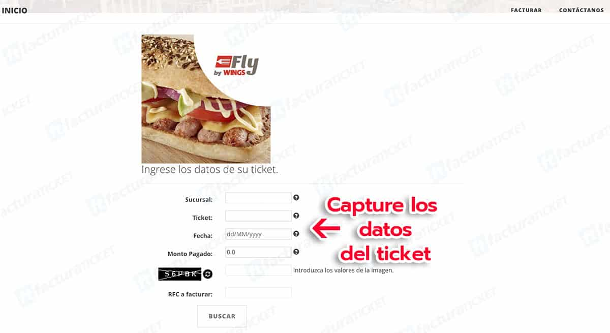 Fly by Wings Paso 2  Capture sus datos