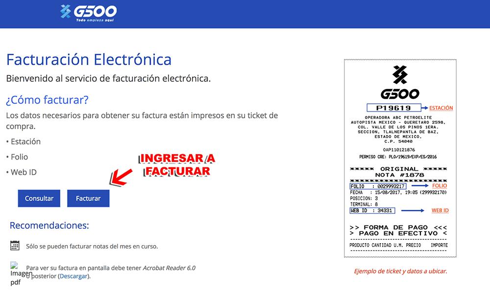 G500 Network Paso 1  Ingreso al sistema