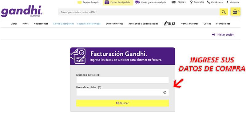 Gandhi Paso 1  Ingresar al Portal