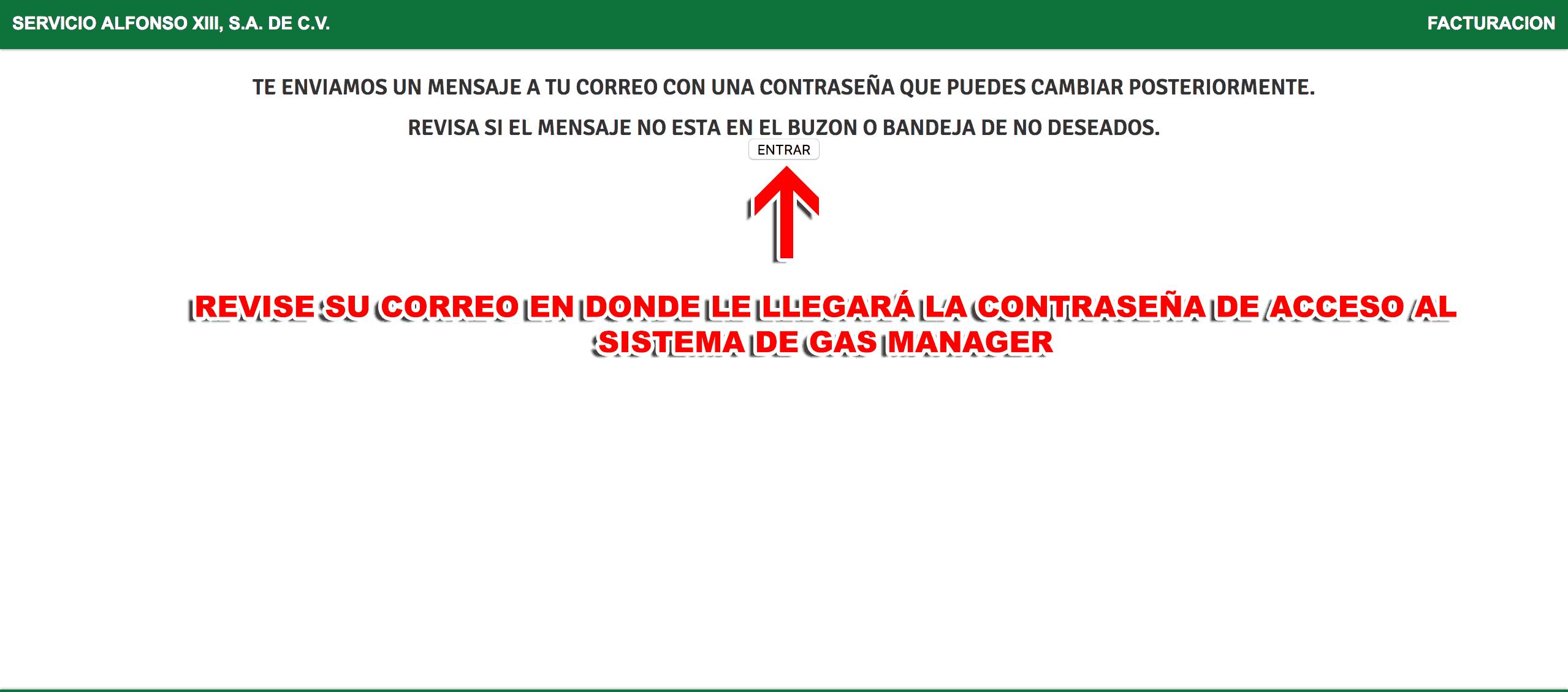 Gas Manager Paso 1  Registro en el sistema