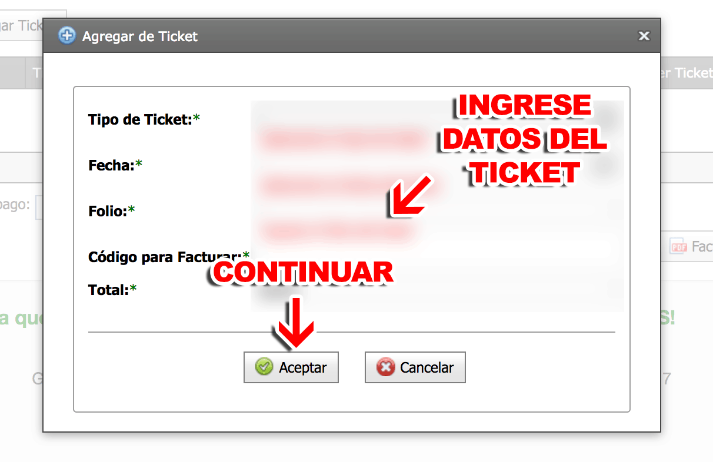 Gasomarshal Paso 3  Ingreso de tickets