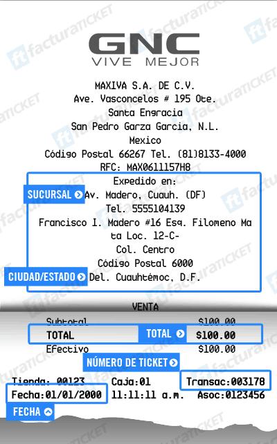 GNC  Paso 1  Captura datos de compra
