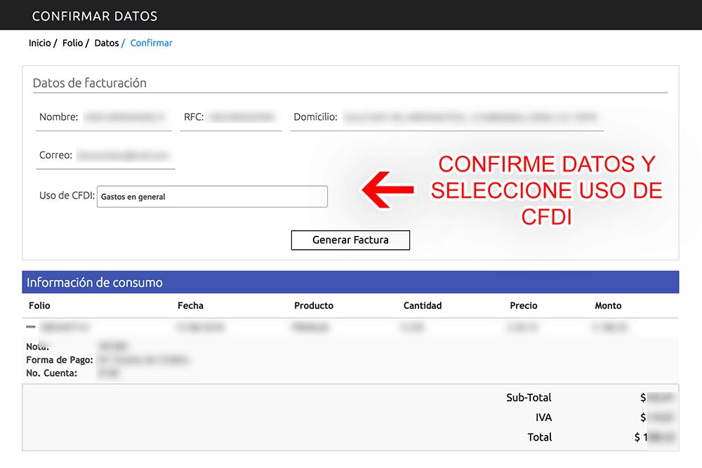 Grupo Cyma Paso 4  Confirme sus datos y descargue su factura.