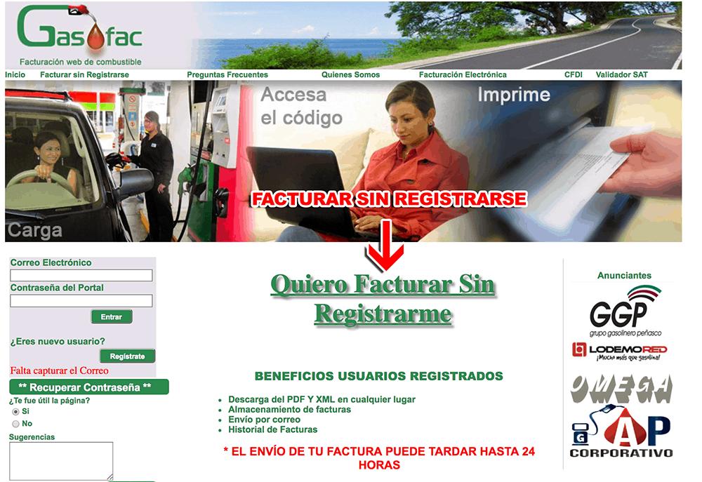 Grupo Gasolinero Peñasco Paso 1  Ingreso al sistema