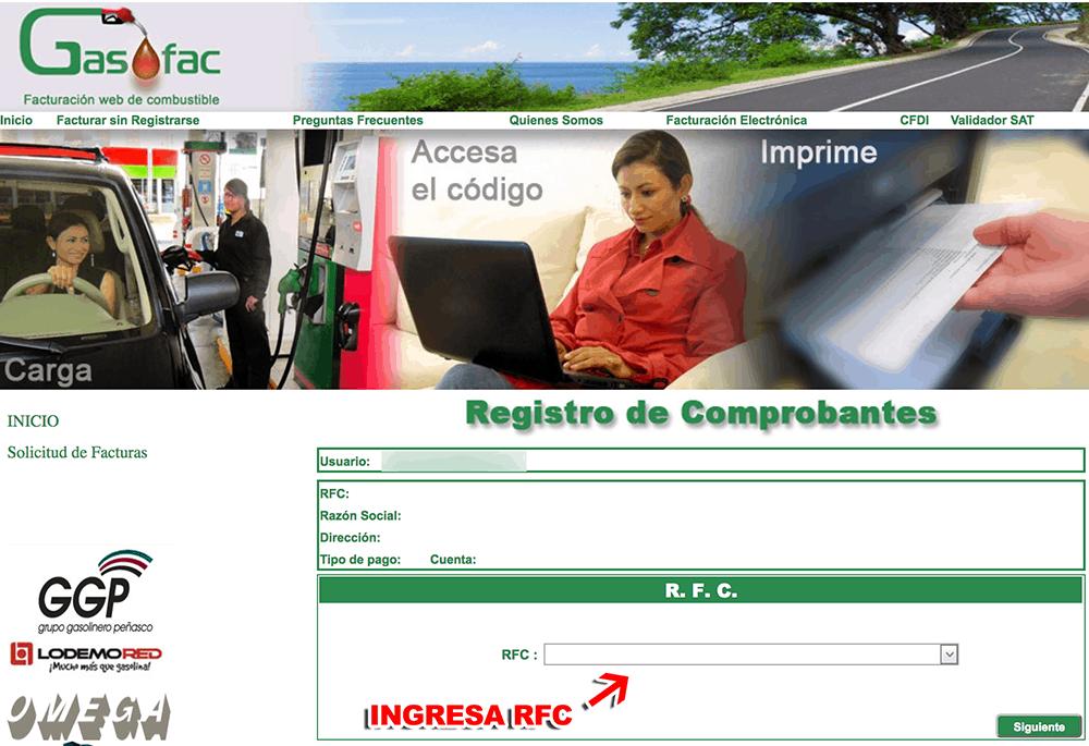 Grupo Gasolinero Peñasco Paso 2  Captura de datos fiscales