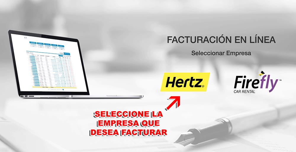 Hertz Paso 1  Selección de Empresa