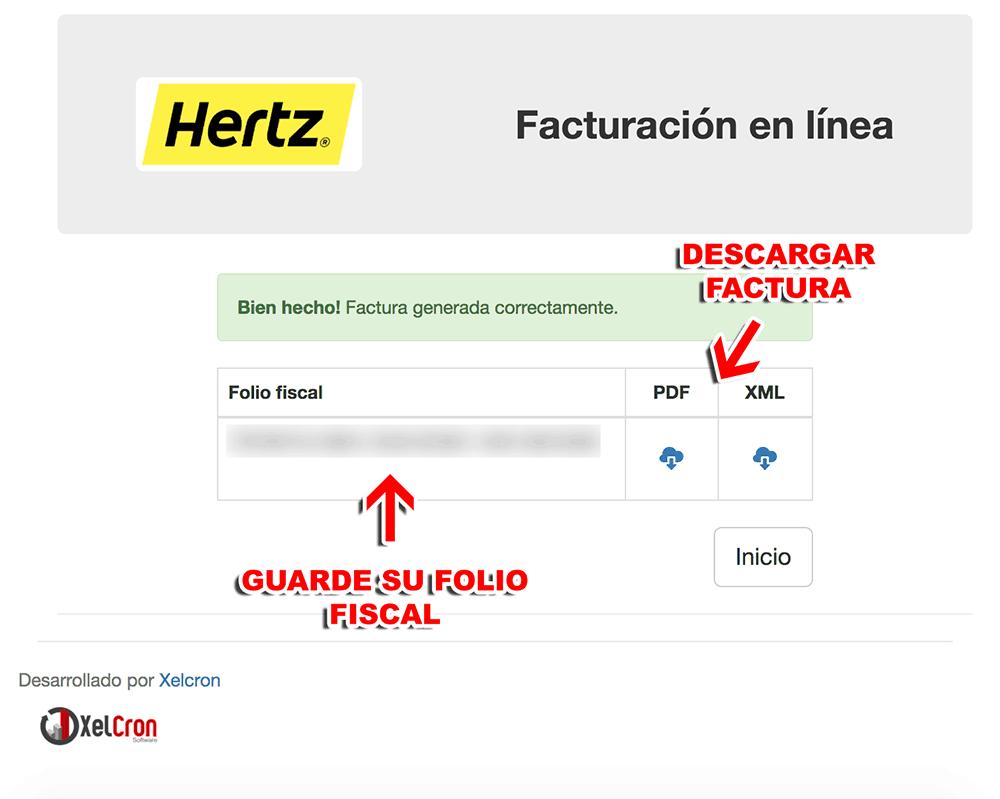 Hertz Paso 3  Confirmación
