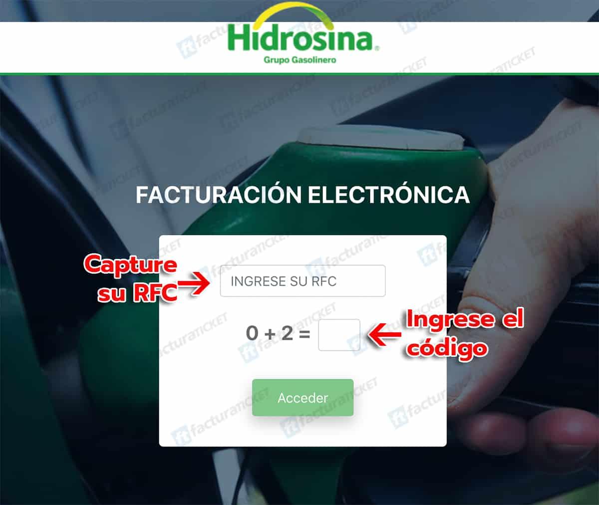Hidrosina Paso 1  Identificación de Datos