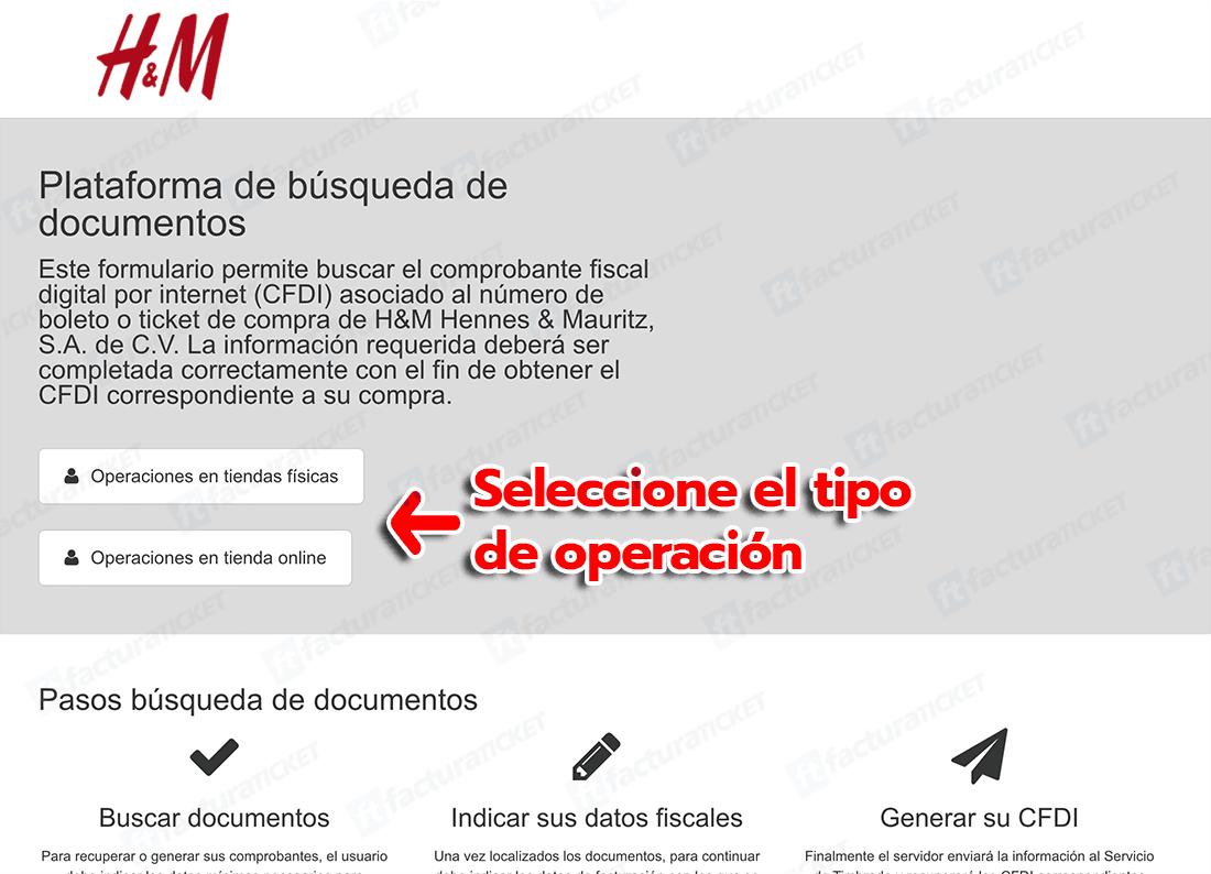 H&M Paso 1   Captura de Folio
