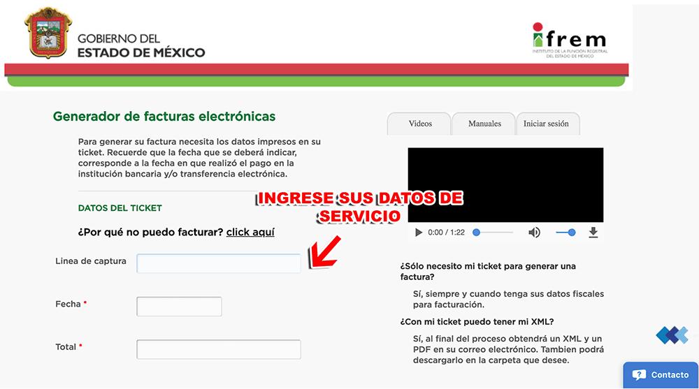 IFREM EDOMEX Paso 2  Capture sus datos