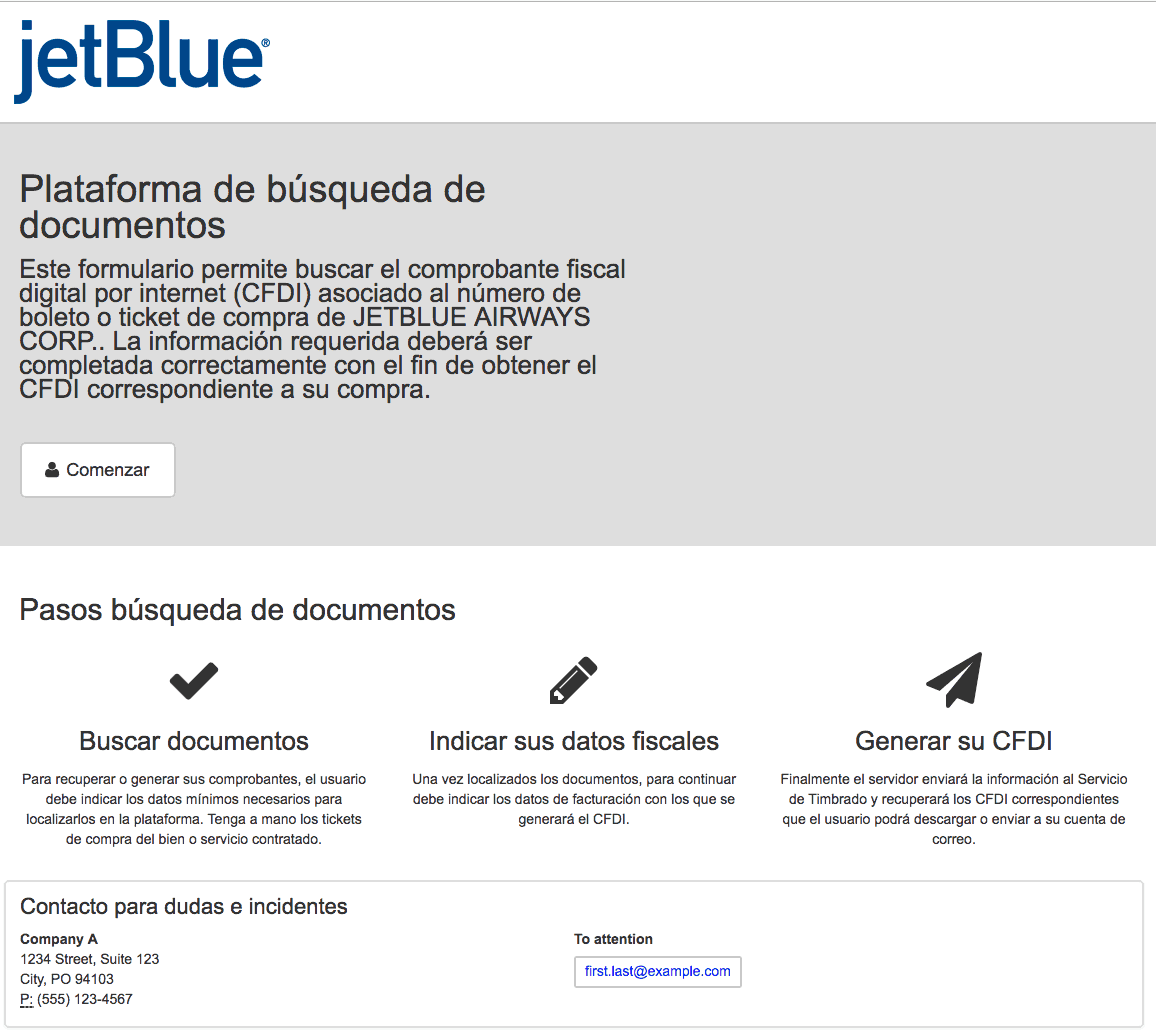 JetBlue Airways  Paso 1  Captura de datos