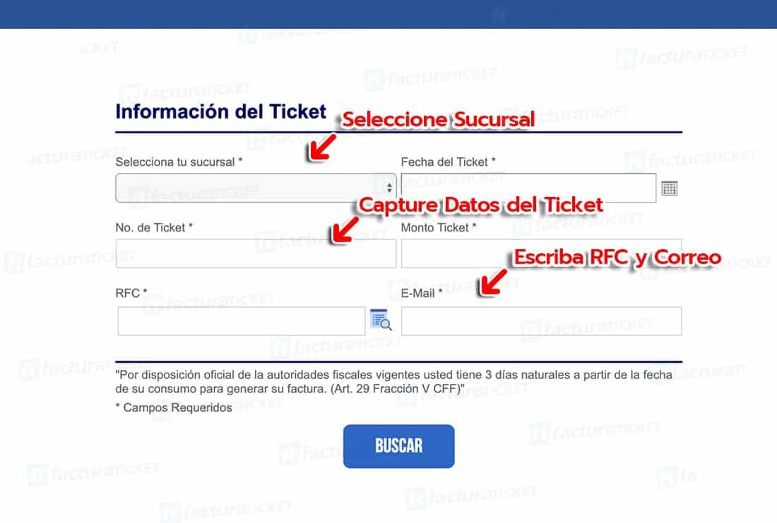 Johnny Rockets Paso 1  Capture Datos del Ticket