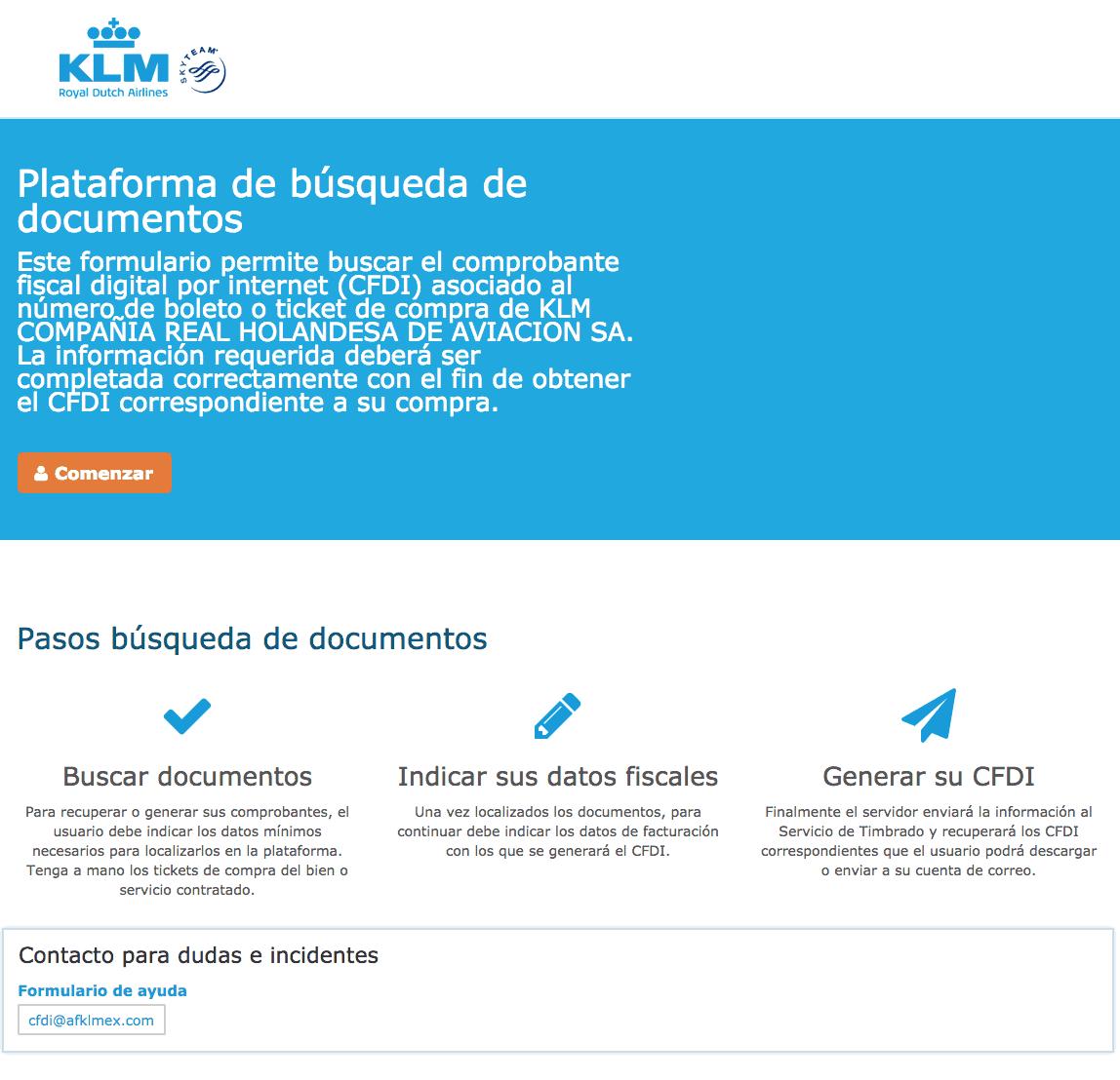 KLM Airlines  Paso 1  Captura de datos