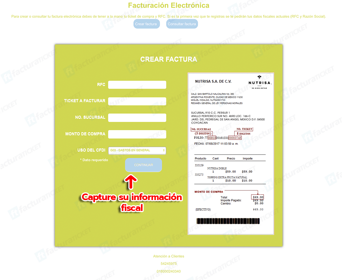 LAVAZZA Paso 1  Captura de datos de compra