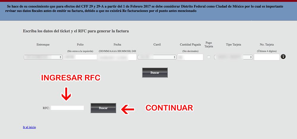 Macrotunel Acapulco Paso 2  Captura de RFC y verificación de datos