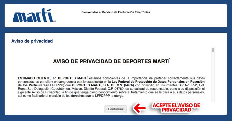 Marti Deportes Paso 1  Identifique los datos del ticket