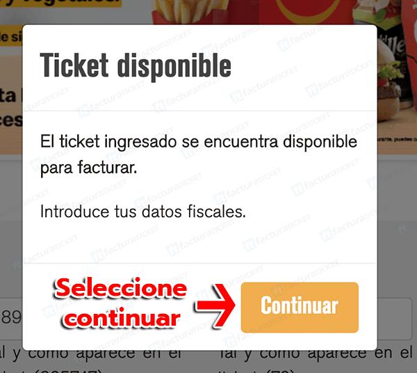 McDonalds Paso 2 Verificar Datos