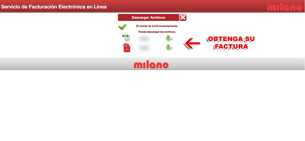 Milano Paso 3  Confirmación de factura