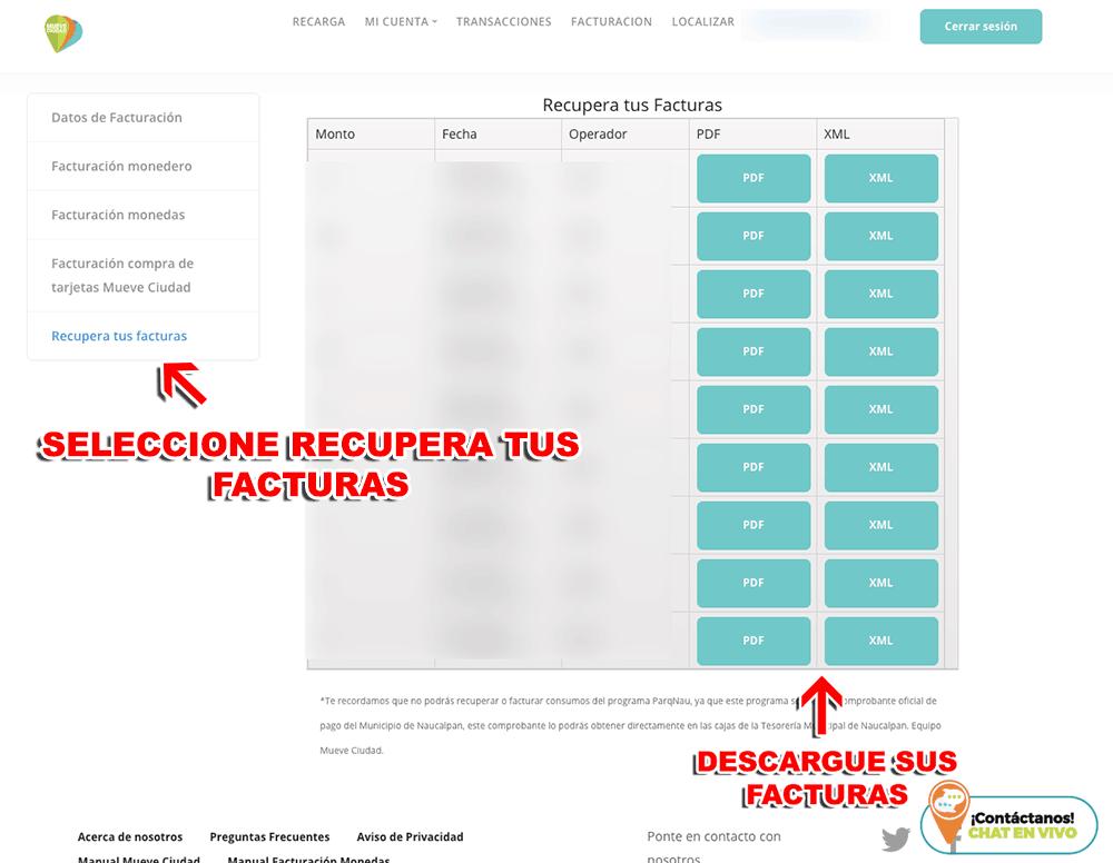 MueveCiudad – Parquímetros Ecoparq CDMX (Monedas) Paso 3  Confirmación de Factura