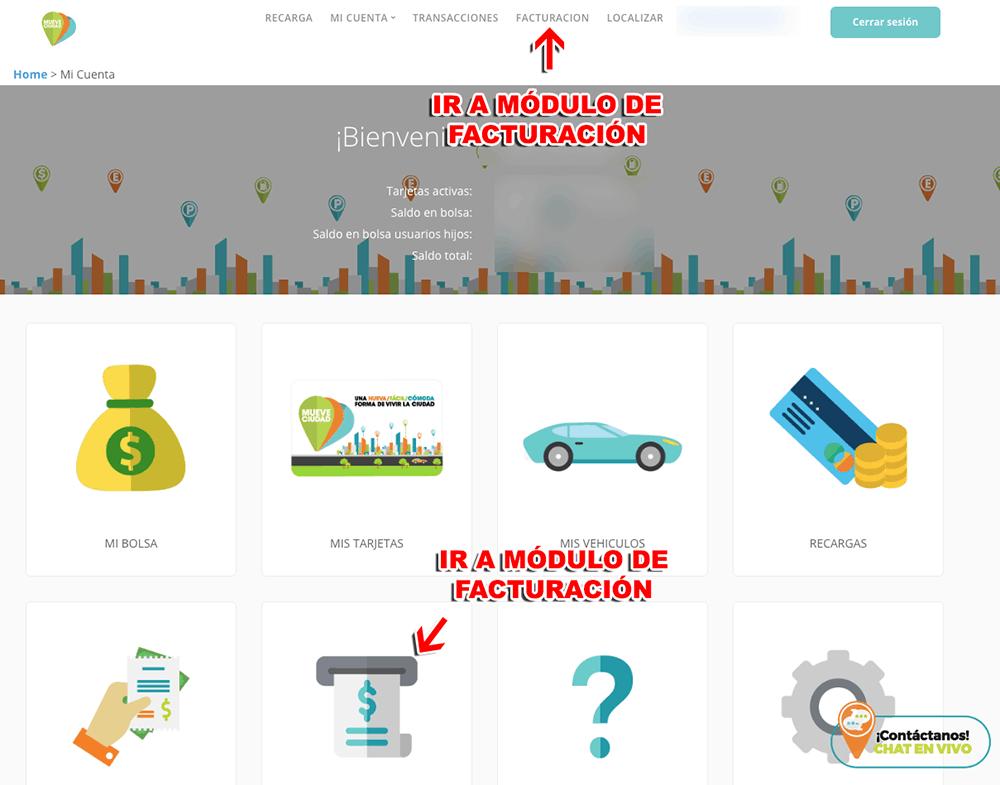 """MueveCiudad – Parquímetros Ecoparq (Monedero)  Paso 1  Verificación de datos y selección de proceso """"Monedero"""""""